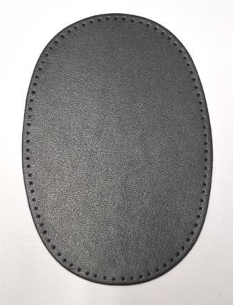 Patch Kunstleder, schwarz