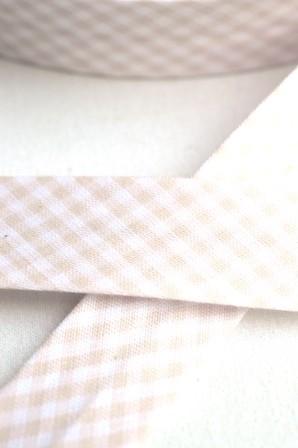 Westfalen Schrägband, karo rosé-weiß