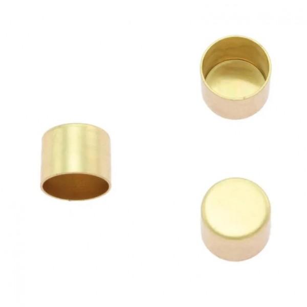 Kordelendkappe, gold, 6 mm