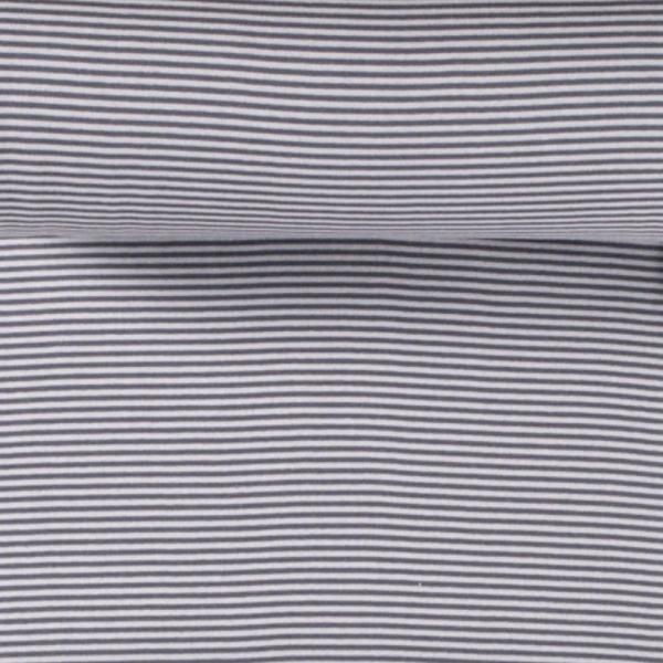 Ringelbündchen hellgrau-grau, gestreift