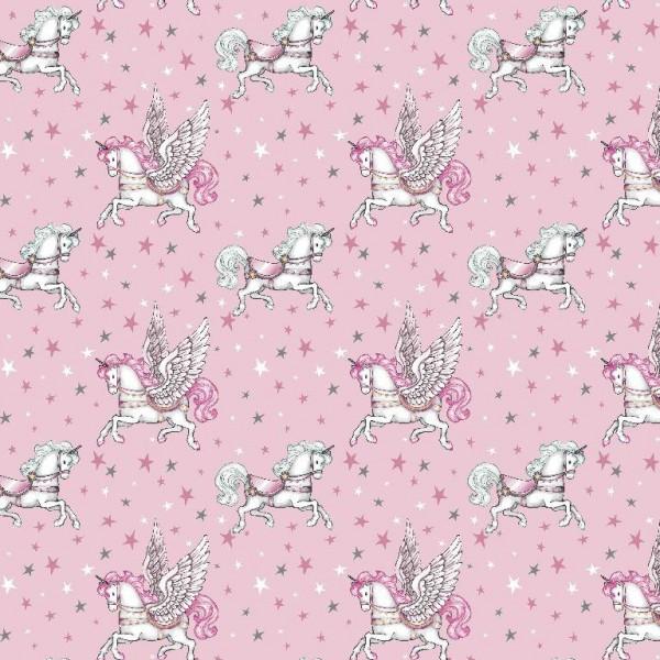 Fairytale Unicorn, rosa, Popeline