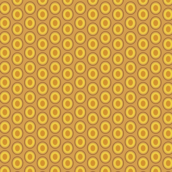 Art Gallery Oval Elements Mustard, Webstoff