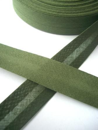 Schrägband, 20 mm, khaki