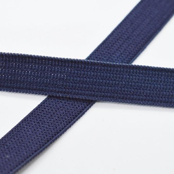 Flachgummi, dunkelblau, 10 mm