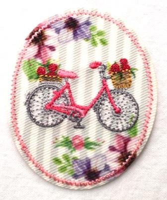 Applikation Vintage Fahrrad
