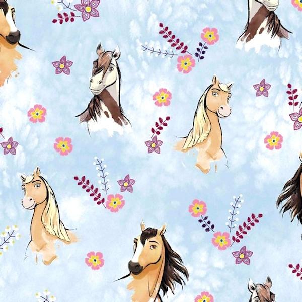 Digitaldruck, Horse Spirit auf hellblau, Jersey