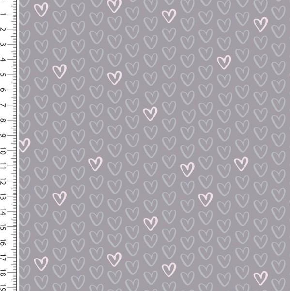 Kleine Herzen grau Kuschelsweat
