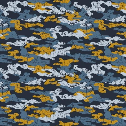 Camouflage dunkelblau/ocker, Sweat