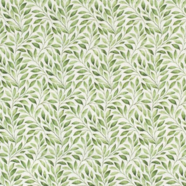 Double Gauze/Musselin, Blätter grün