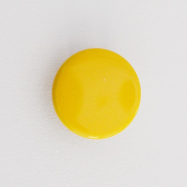 Druckknopf, gelb, 10 mm