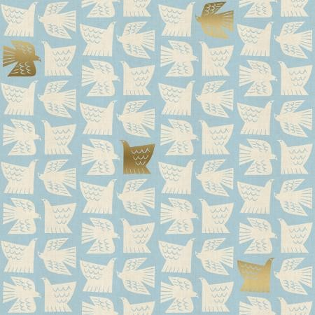 Cotton+Steel, Kibori, Paper Birds hellblau, Baumwollstoff