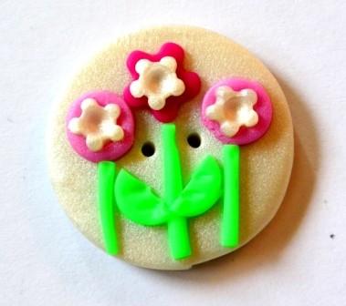 Blumenwiese, Fimoknopf *SALE*