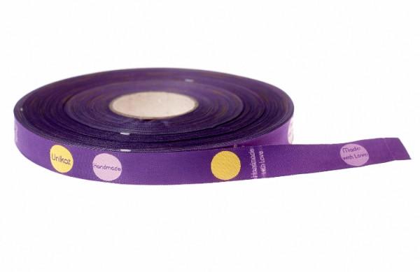 Handmade Dots, violett, Webband