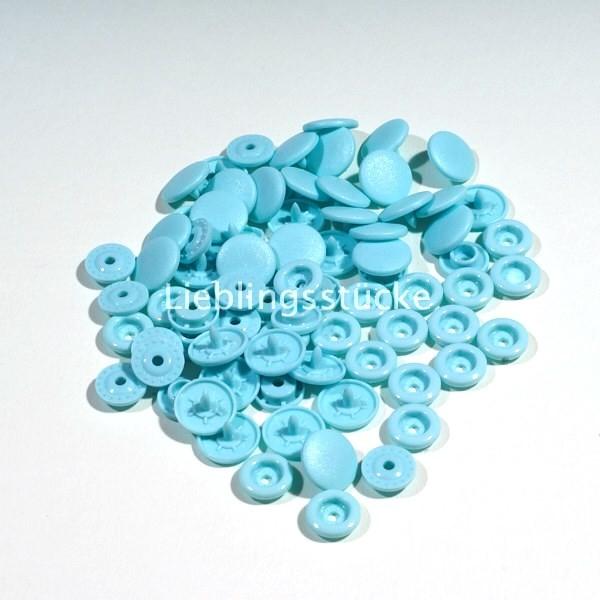 KAM Snaps, 10 Stück Packung, Babyblau - 59