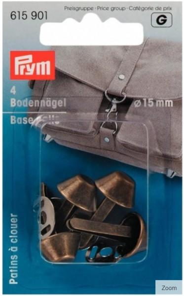 PRYM Bodennägel, 15 mm, altmessing