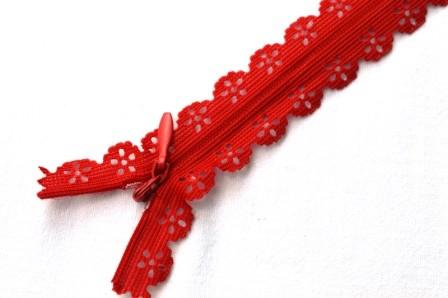 Zierreißverschluss, rot *SALE*