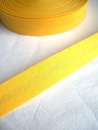 Package Schrägband, 20 mm, zitronengelb - 10 Meter