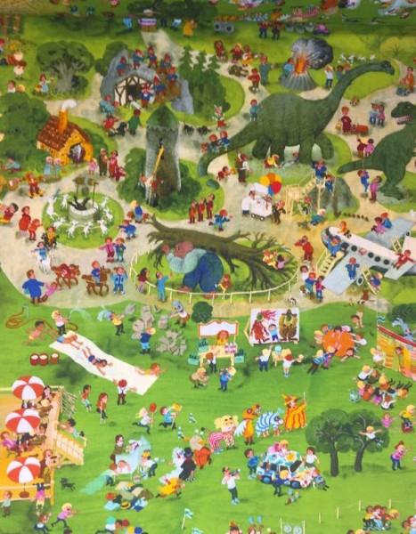 AUSVERKAUFT! Wimmelbuch Am Spielplatz, Jersey, *Letztes Stück ca. 50 cm*