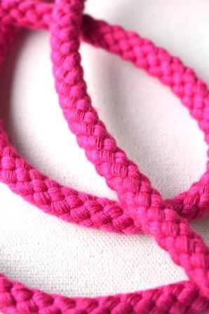 Flechtkordel, 8 mm, pink