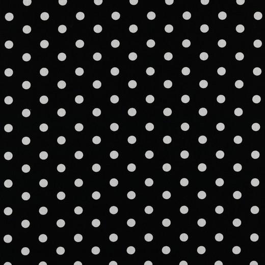 Lili Punkte mittel, schwarz, Webstoff, waschbar bei 60°