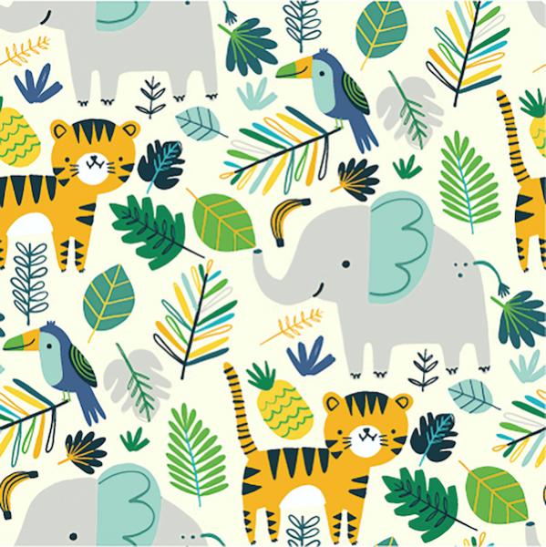Lucas Tiere im Dschungel, offwhite Sweat