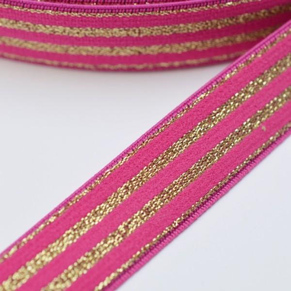 Gummiband, Lurex-pink