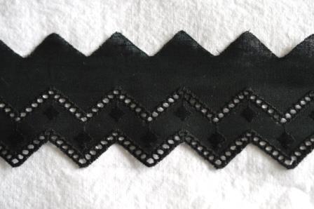 Festonspitze Isa, 50 mm, schwarz
