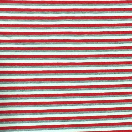 Stripes rot/grau-meliert/weiß, Jersey