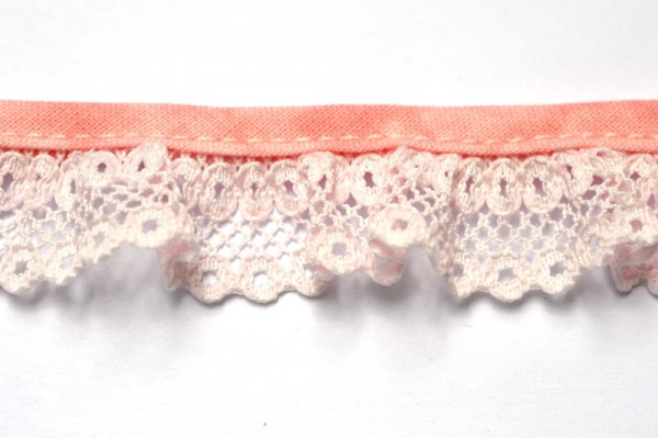 Netzspitze, rose, 20 mm