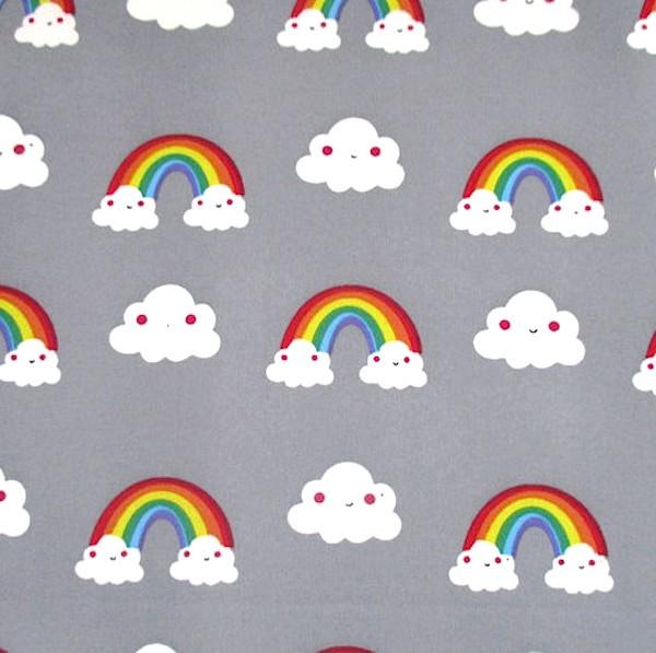 Softshell, Cloudy Rainbow, mittelgrau