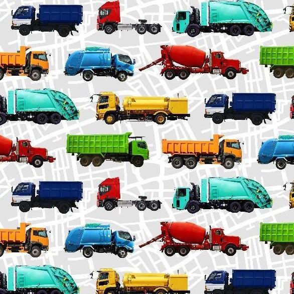 Trucks bunt, Webstoff