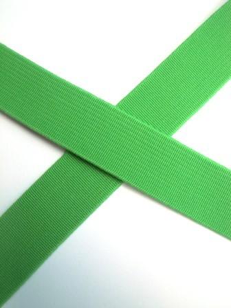 Flachgummi, hellgrün, 20 mm