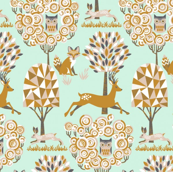 blendfabrics, Natural Wonder mint, Webstoff