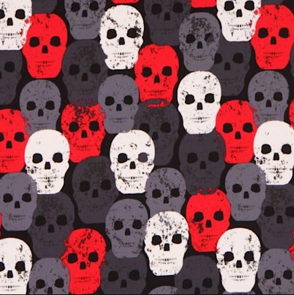M.Miller Skull of Rock red, Webstoff