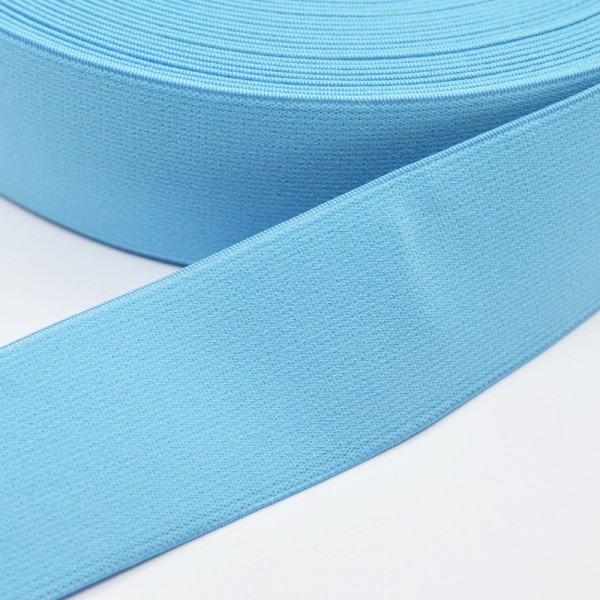 Gummiband breit, himmelblau