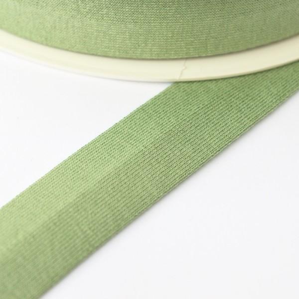 Viskosejersey-Schrägband, helles waldgrün
