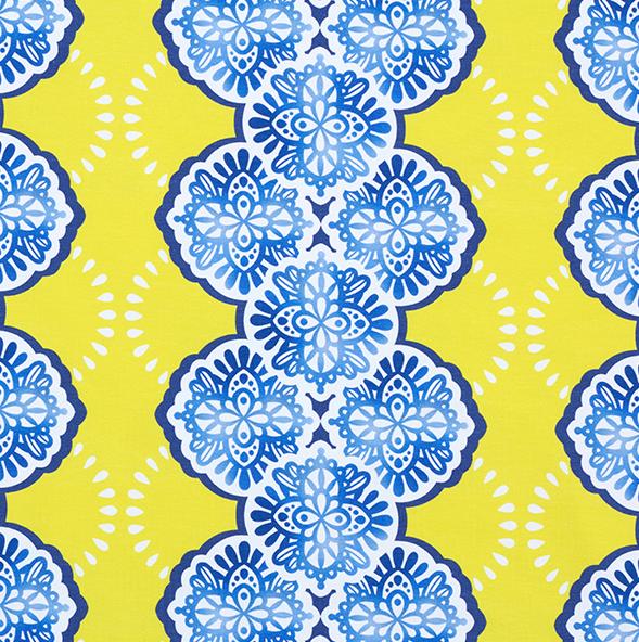 Weekender Adora gelb-blau, Bio-Jersey, *Letztes Stück ca. 120 cm*
