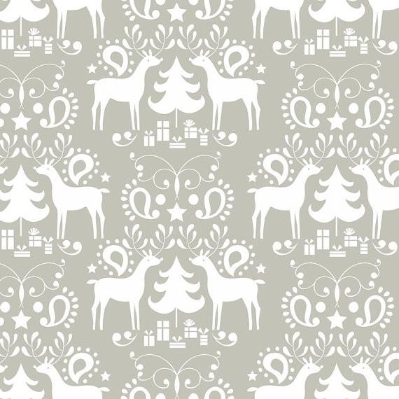 blendfabrics, Treelicious Rudolph grey, Webstoff, *Letztes Stück ca. 120 cm*