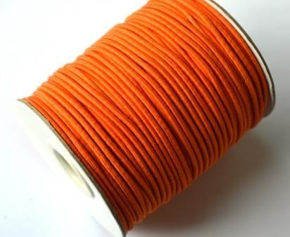 Gummischnur, 2 mm, orange