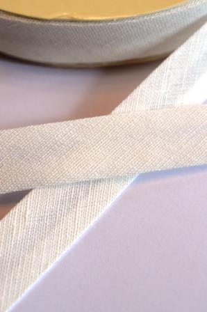 Leinen-Schrägbänder, weiß