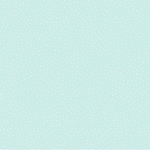 Charming Dots mint, Baumwollstoff, waschbar bei 60°
