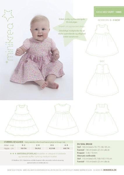 Minikrea Baby-Kleidchen 10005, Schnittmuster *SALE*