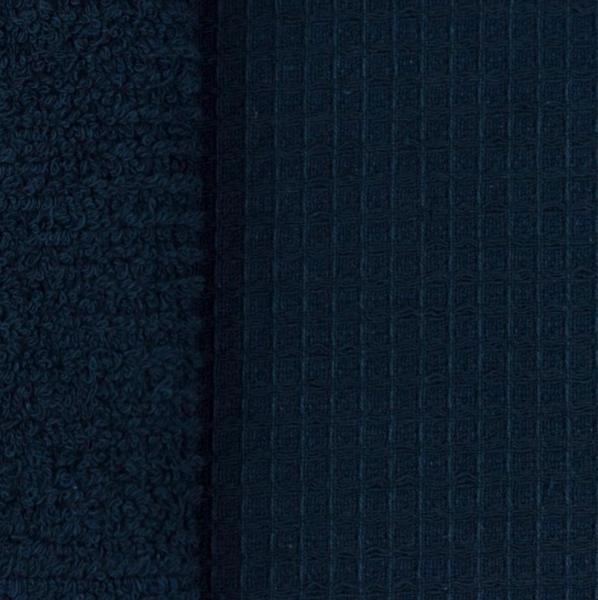 Doubleface Waffelfrottee, dunkelblau