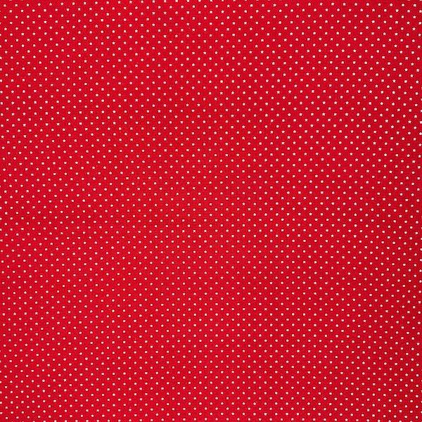 Fanny, Mini Sternchen weiß auf rot, Popeline