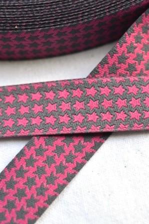 Staaars, pink-grau, Webband beidseitig