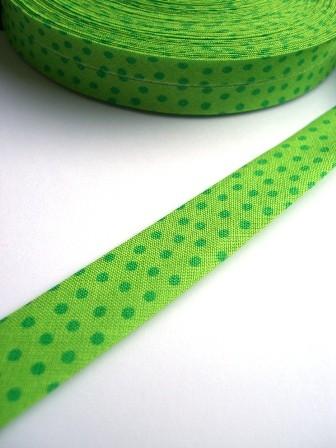 Westfalen Schrägband, grün mit grünen Punkten