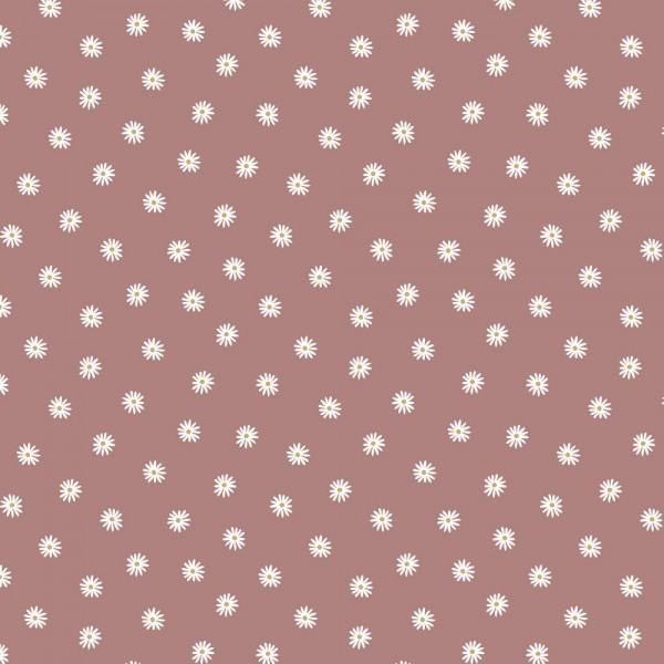Digitaldruck, Kleine Gänseblümchen mauve, Bio-Jersey