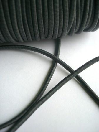Gummischnur, 3 mm, dunkelgrau