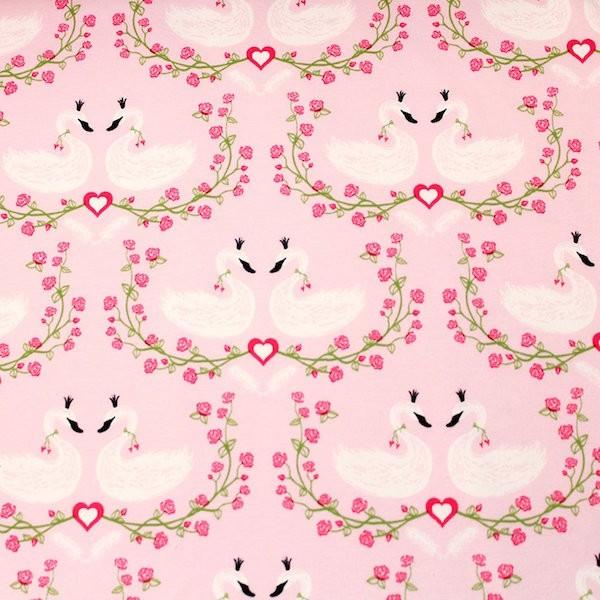 Schwanröschen, rosa, Bio-Jersey, *Letztes Stück ca. 90 cm*