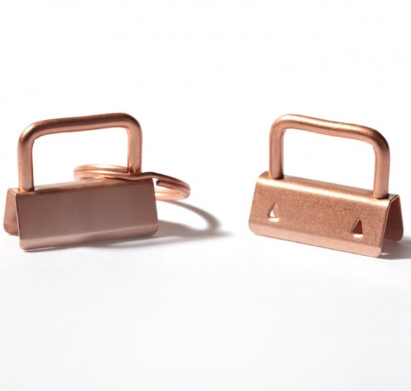 Clip für Schlüsselband - rose gold / kupfer